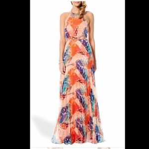 Watercolor Halter Maxi Dress